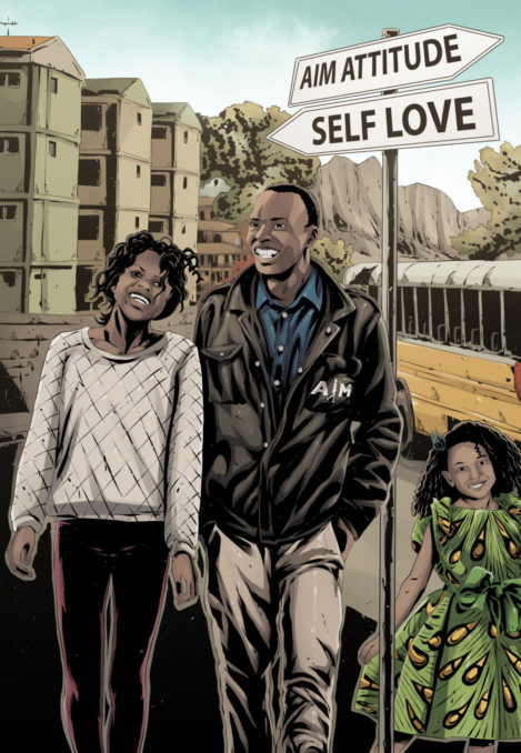 Aim african comic art Self Love_aim_attitude