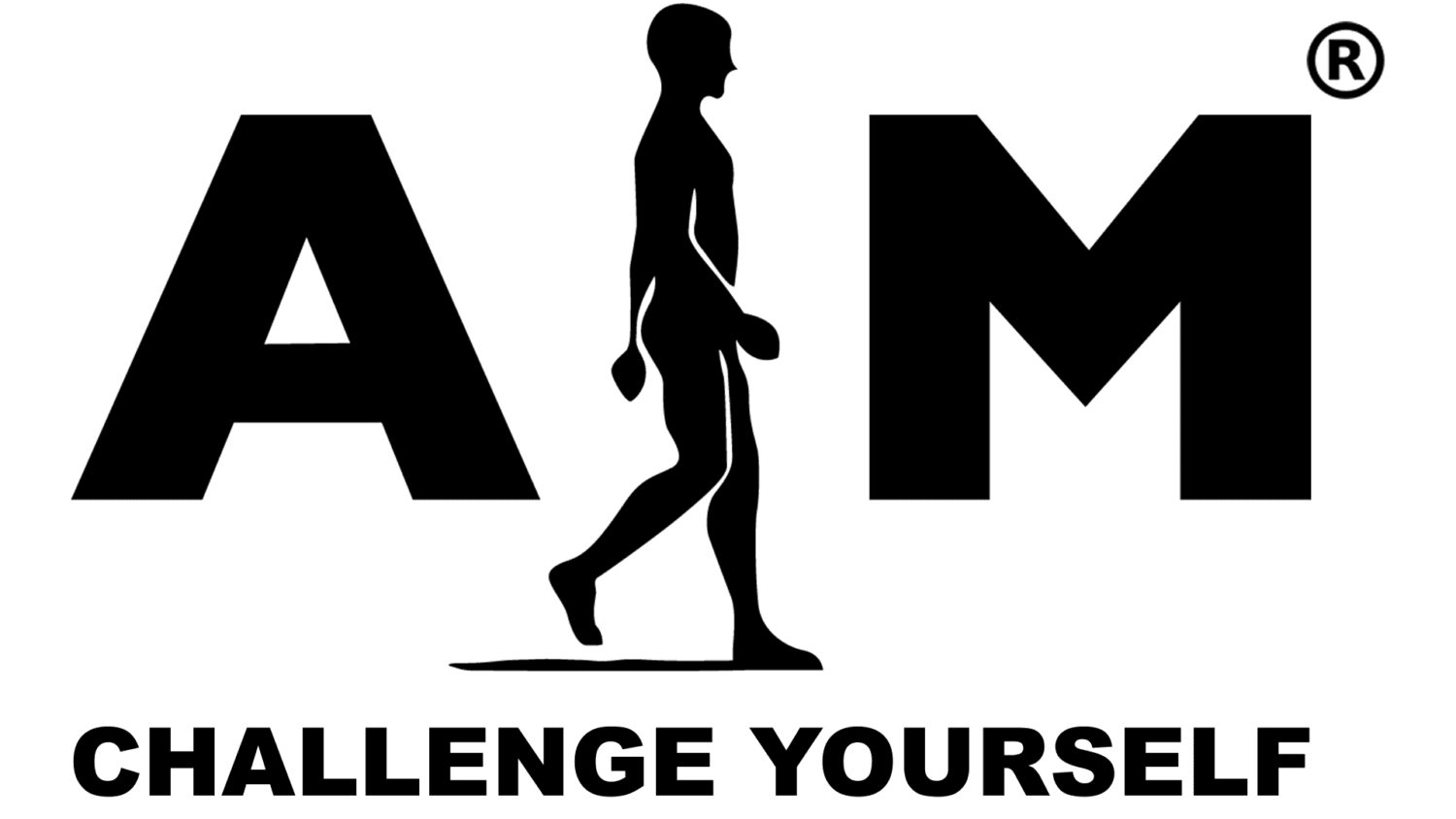 Logo with Challenge Yourself slogan_aim attitude