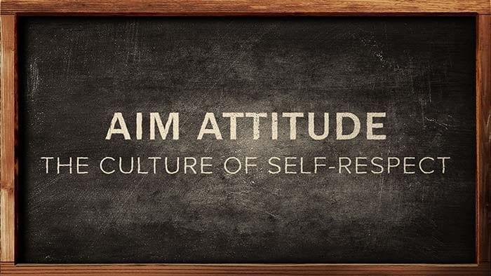 Teach self-respect