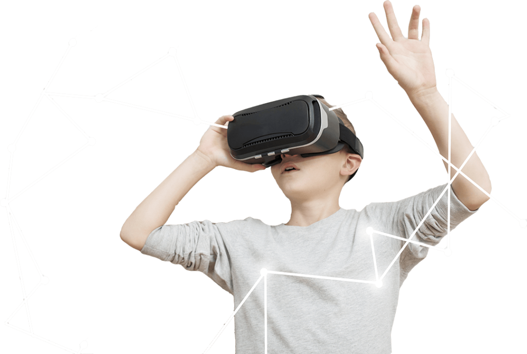 Boy With VR Box